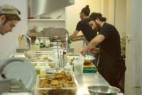 Danny Hassell and Chef Joseph Awad at work in the Parcae kitchen