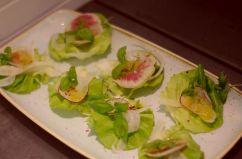 Three type radish salad with fennel, chili and orange ($8)