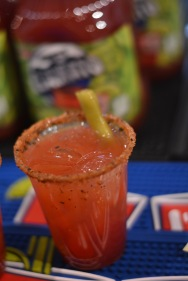 A showcase of Mott's new Lime Caesar toppled with a spicy bean with a very thick rim - 1 ticket