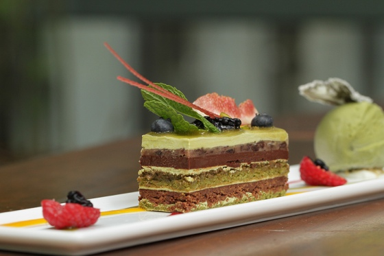 The infamous Green Tea Opera Cake