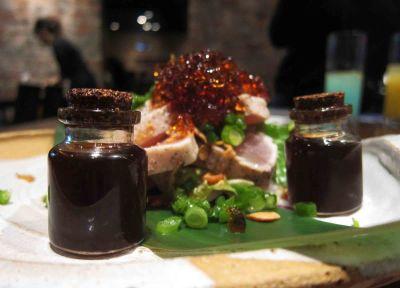 Garlic Tuna Tataki & Ponzu Jelly ($8.2)