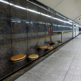 Seats in the subway
