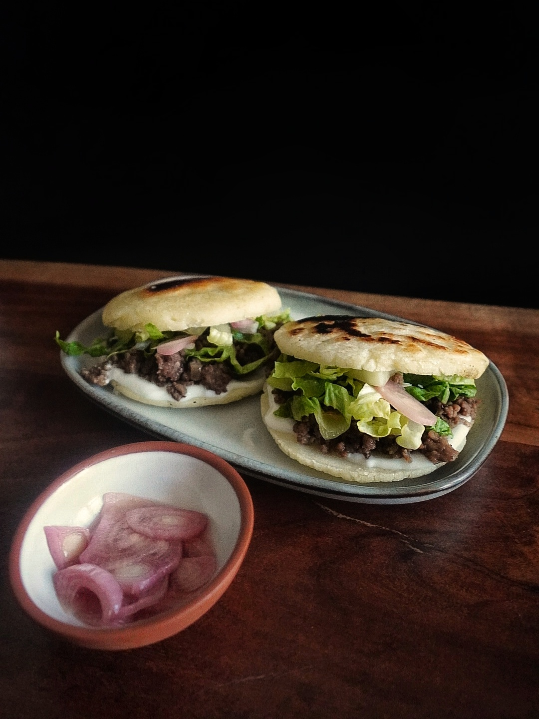 arepa sandwich south american cheese and beef how to make